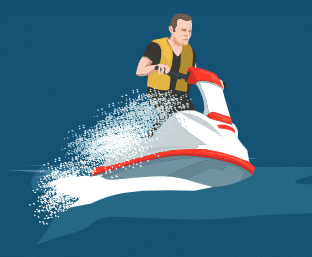 Picture of a Jet Skier