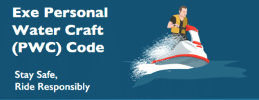 Exe Personal Water Craft Code of Conduct leaflet
