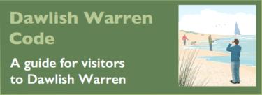 Dawlish Warren Code of Conduct leaflet