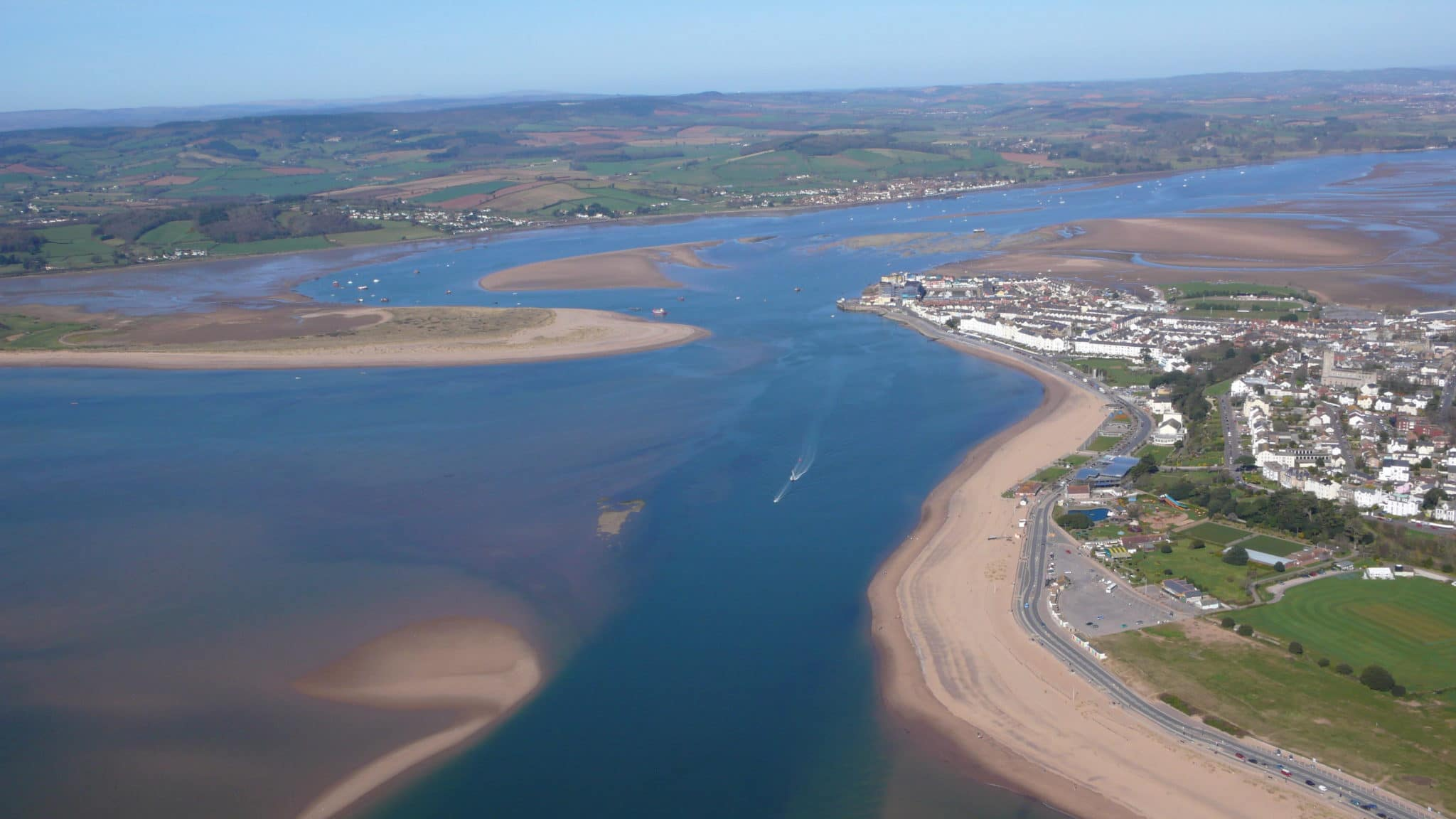 Image 1a: Aerial view of the Exe Estuary