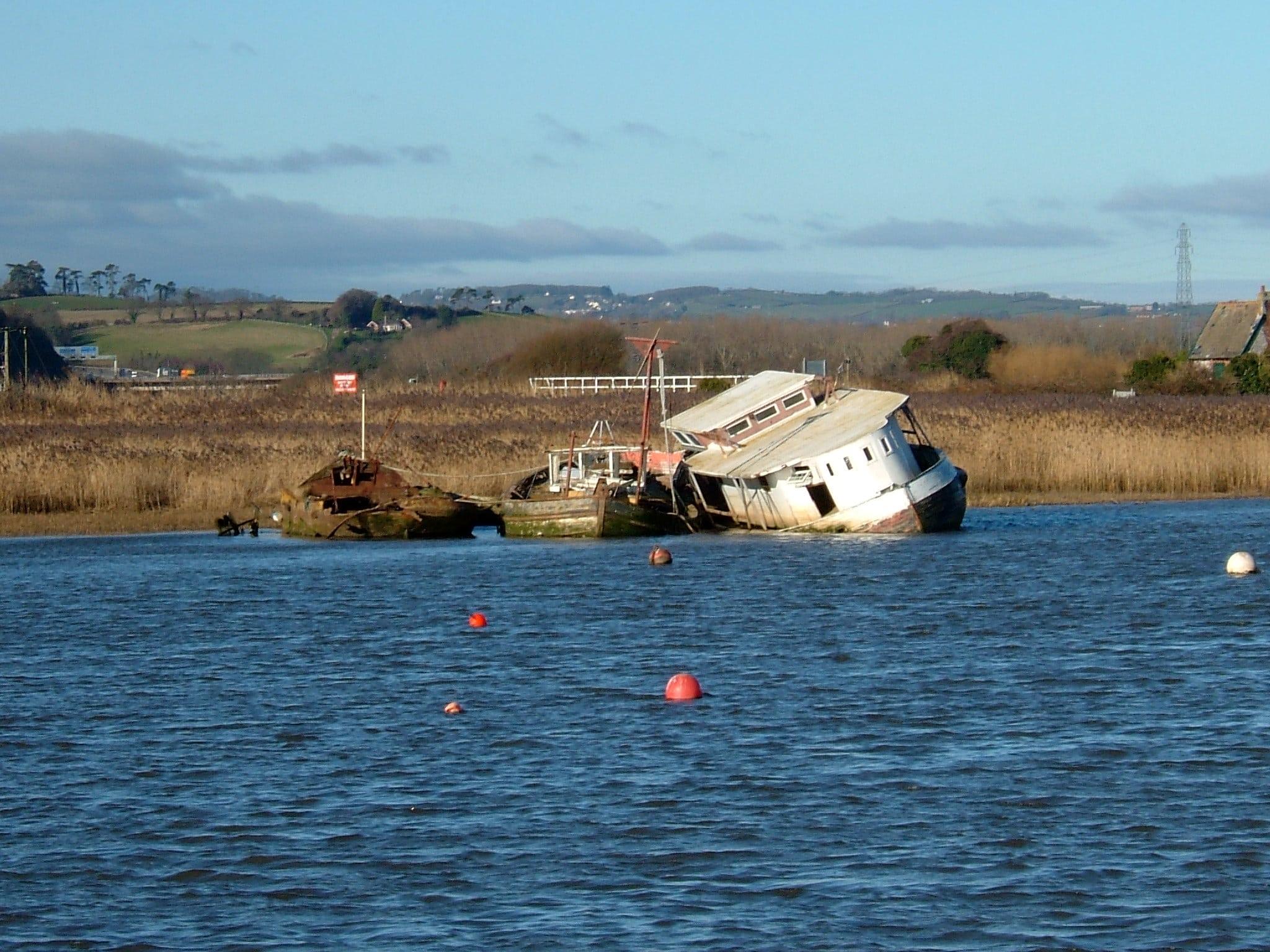 Historic hulk on the Exe Estuary
